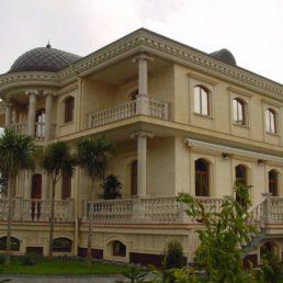 Фасад из мрамора, частная вилла